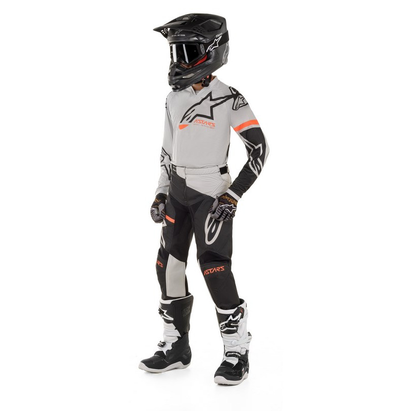 Alpinestars enfant racer compass light gray black
