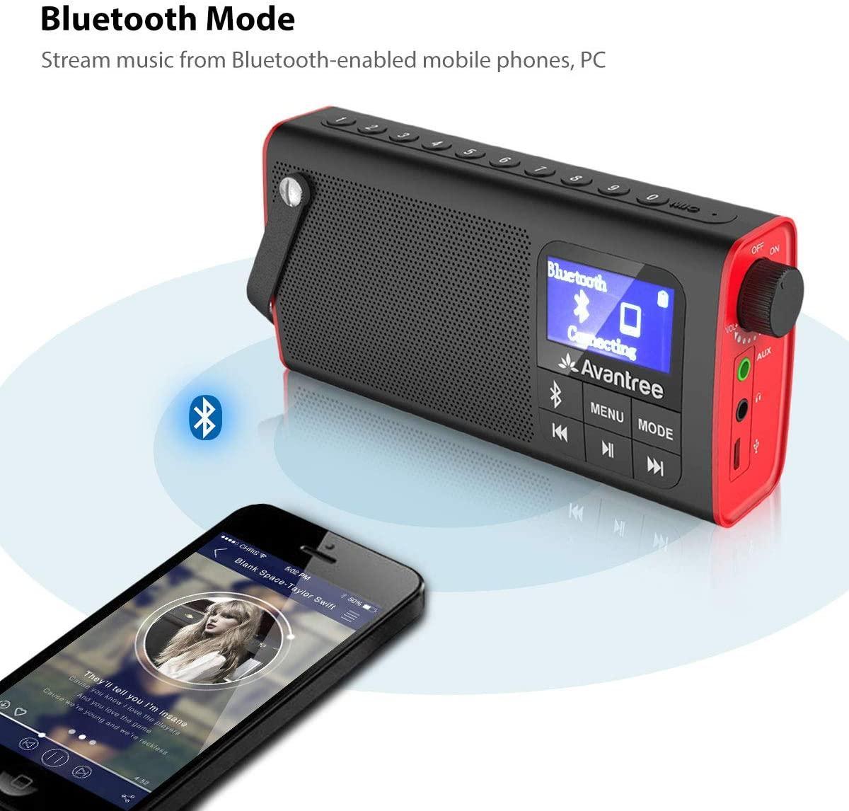 Avantree radio fm lecteur audio micro sd 2