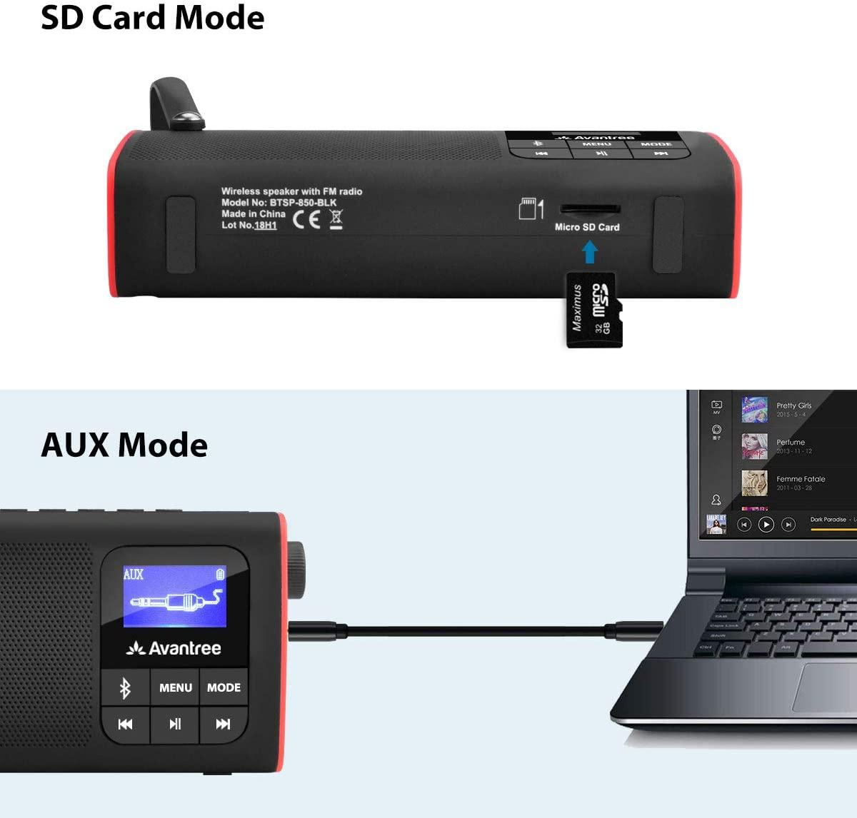 Avantree radio fm lecteur audio micro sd 3