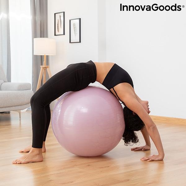 Ballon de yoga avec anneau de stabilite et bandes de resistance ashtanball innovagoods 1194344