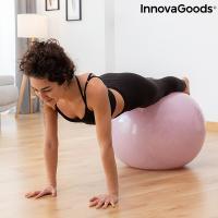 Ballon de yoga avec anneau de stabilite et bandes de resistance ashtanball innovagoods 1194346