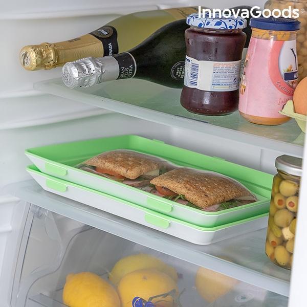 Bandejas para alimentos reutilizables vacpack innovagoods pack de 2 119431 3