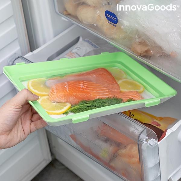 Bandejas para alimentos reutilizables vacpack innovagoods pack de 2 119431 4