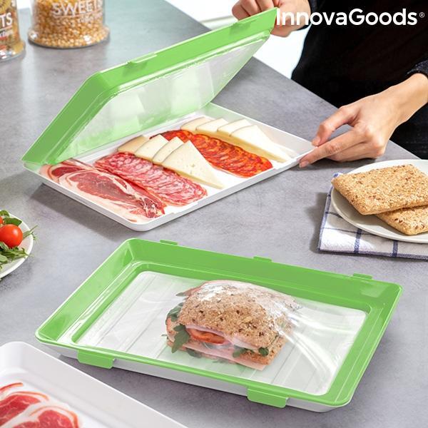 Bandejas para alimentos reutilizables vacpack innovagoods pack de 2 119431