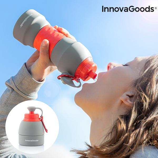Botella plegable de silicona innovagoods