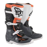 Bottes enfants alpinestars tech 7s black gray white orange fluo al2015017 1124