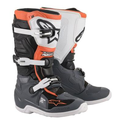 Bottes enfants alpinestars tech 7s black gray white orange fluo al2015017 1124