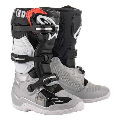 Bottes enfants alpinestars tech 7s black silver white gold al2015017 1829