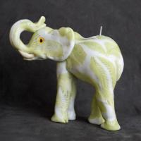 Bougie artisanales elephant blanc green