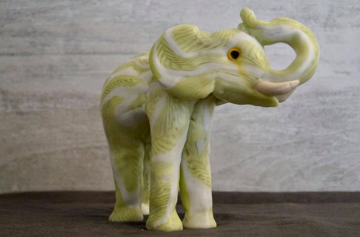 Bougie artisanales elephant green 1