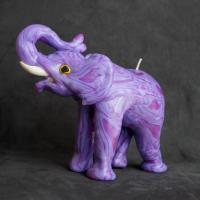 Bougie artisanales elephant purples