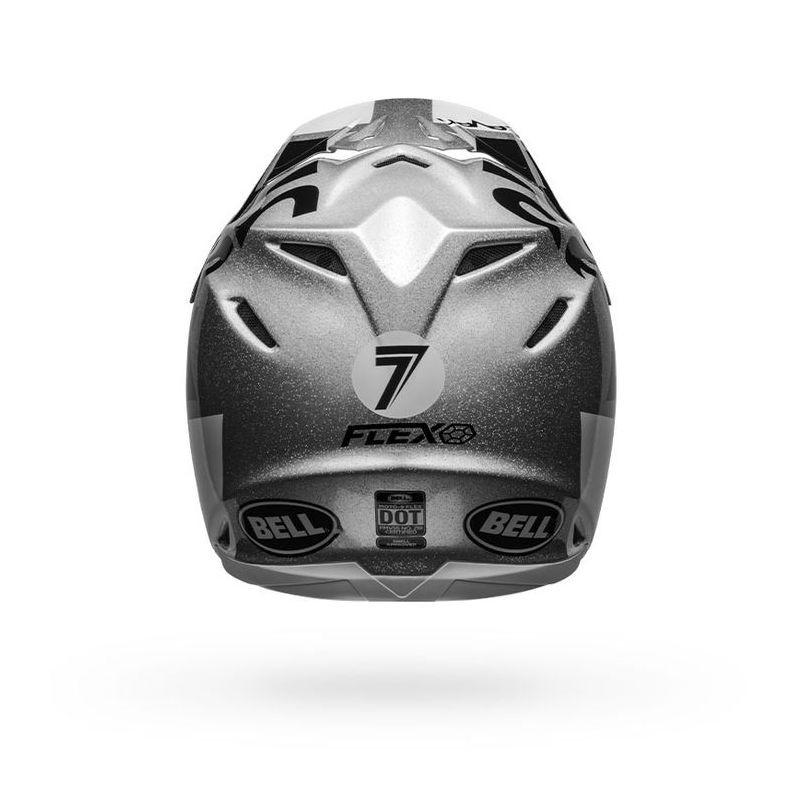 Casque seven moto 9 galaxy gris 7