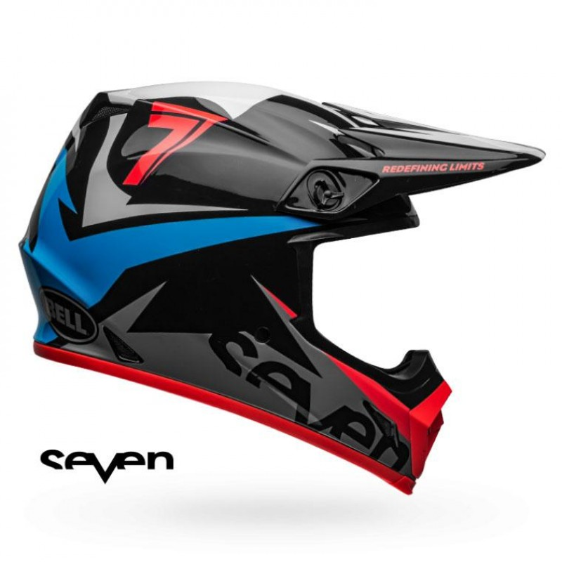 Casque seven mx 9 mips ignite navy coral
