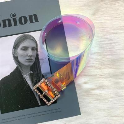 Ceinture fashion plastique transparent multicolore