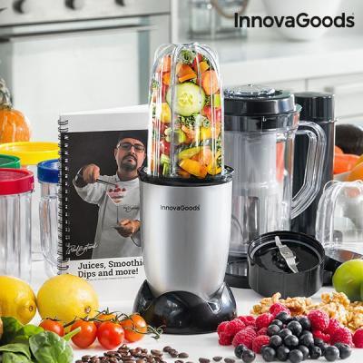 Centrifugeuse en verre avec livre de recette one touch innovagoods 250w gris