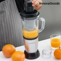 Centrifugeuse en verre avec livre de recette one touch innovagoods 250w gris1