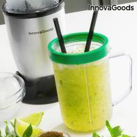 Centrifugeuse en verre avec livre de recette one touch innovagoods 250w gris3
