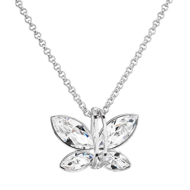 Collier papillon cristal