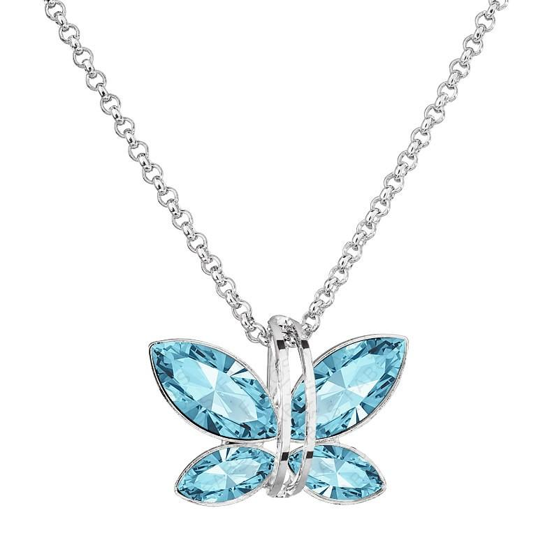 Collier papillon saphir