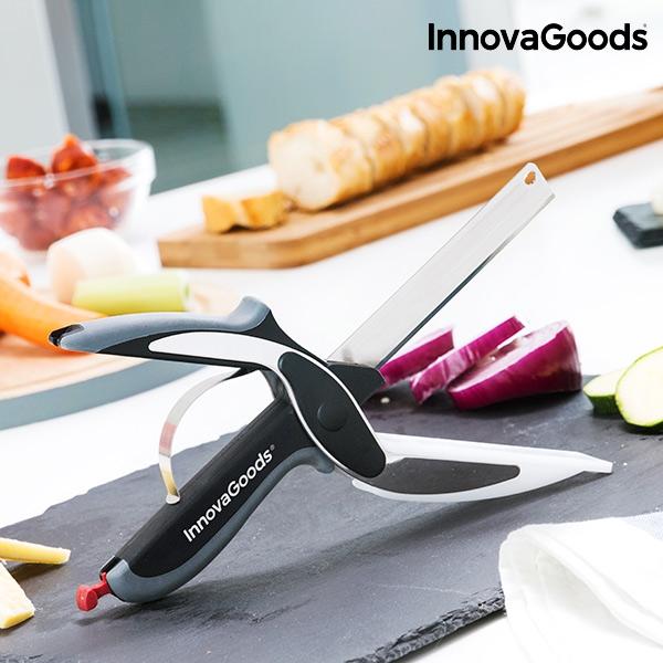 Couteau ciseau avec mini planche a decouper integree innovagoods3
