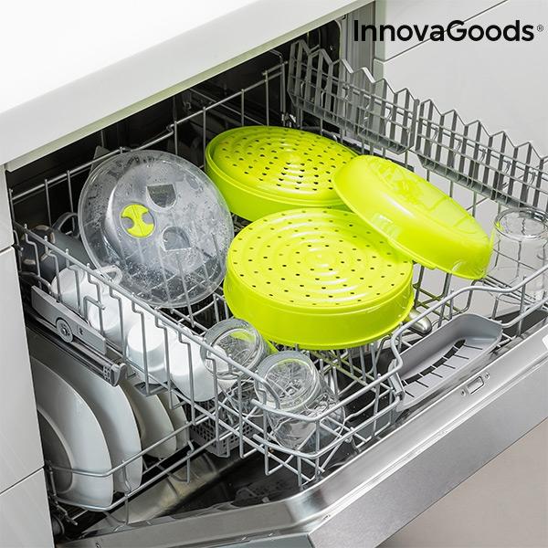 Cuiseur vapeur double pour micro ondes fresh innovagoods2