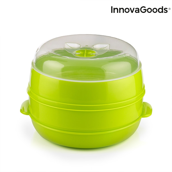 Cuiseur vapeur double pour micro ondes fresh innovagoods3