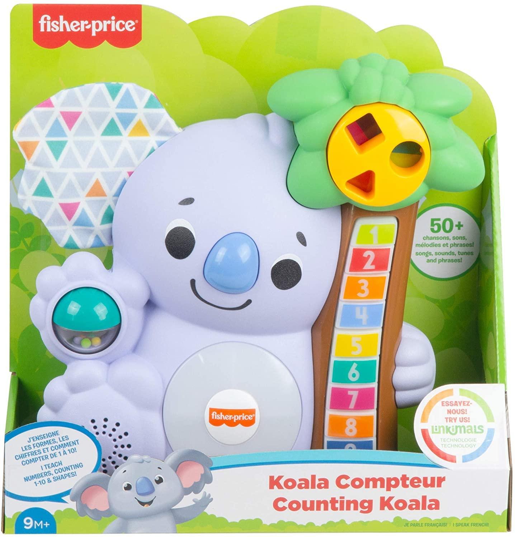 Fisher price linkimals nicolas le koala jouet bebe interactif d apprentissage sons et lumieres version francaise 3