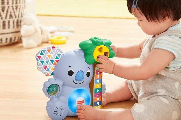 Fisher price linkimals nicolas le koala jouet bebe interactif d apprentissage sons et lumieres version francaise 4