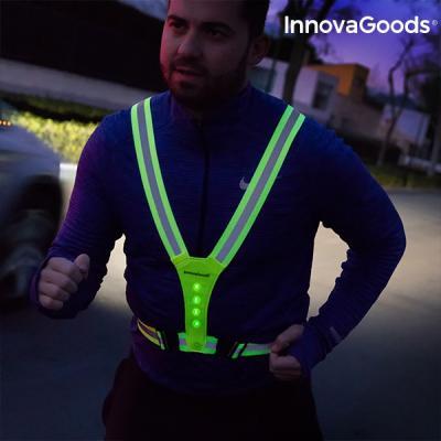 Harnais reflechissant avec led pour sportifs innovagoods1