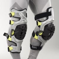 Genouillères Alpinestars Bionic-7 Argent Jaune Fluo