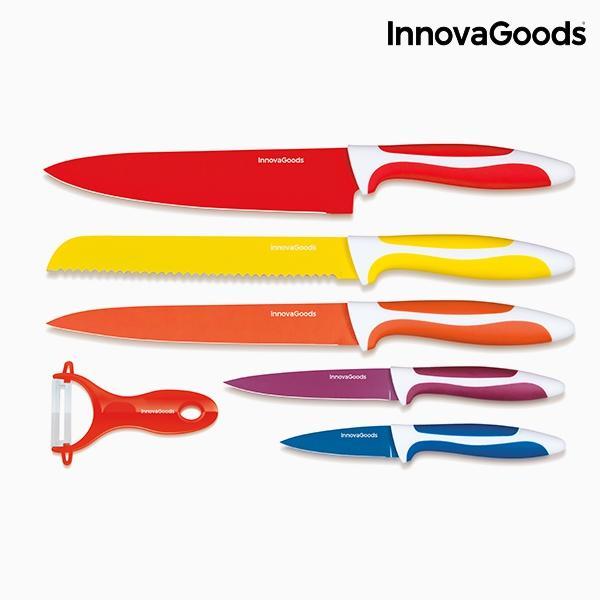 Juego de cuchillos ceramicos y pelador innovagoods 6 piezas 3