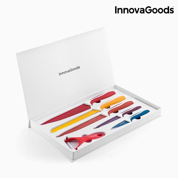 Juego de cuchillos ceramicos y pelador innovagoods 6 piezas 4