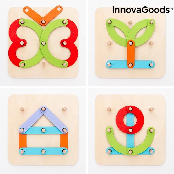 Juego de madera para formar letras y numeros koogame innovagoods 27 piezas 2