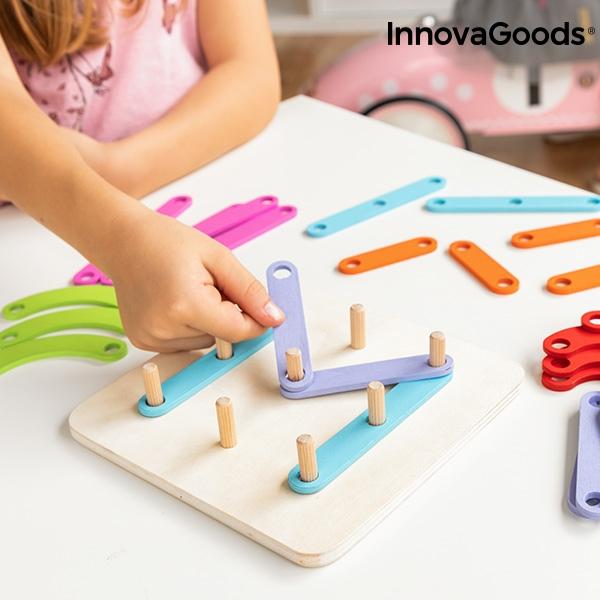 Juego de madera para formar letras y numeros koogame innovagoods 27 piezas