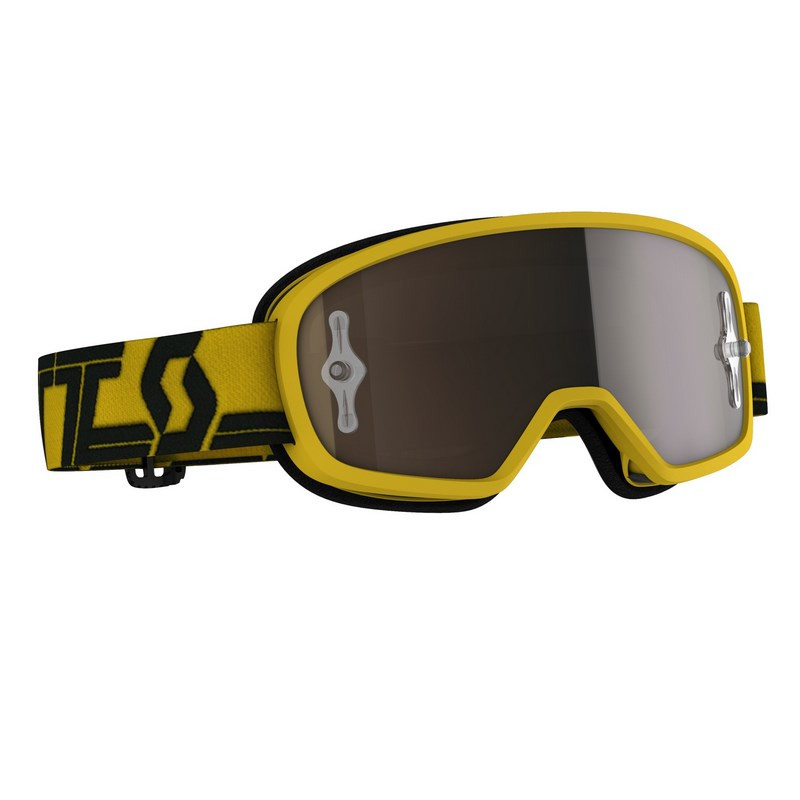 Masque enfant scott buzz mx yellow black gold chrome works sc272836 1017324