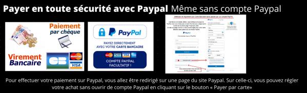 Mode de paiement carte paypal