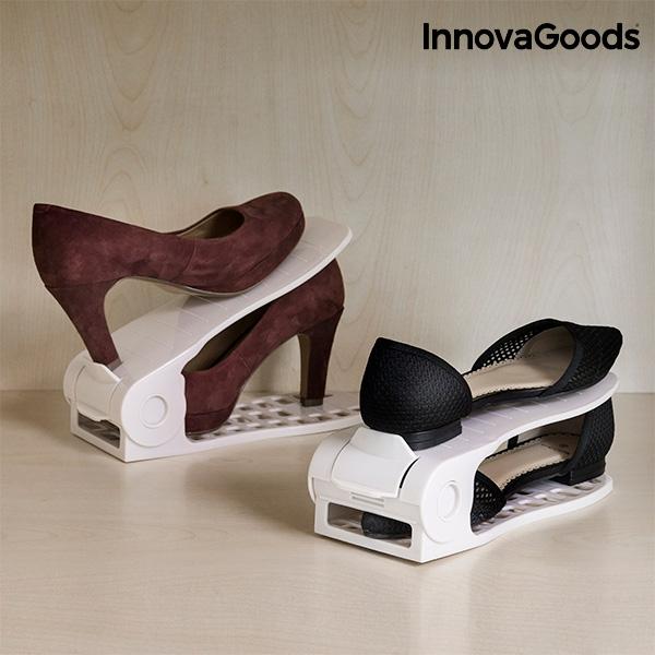 Organizador de zapatos regulable shoe rack innovagoods 6 pares1