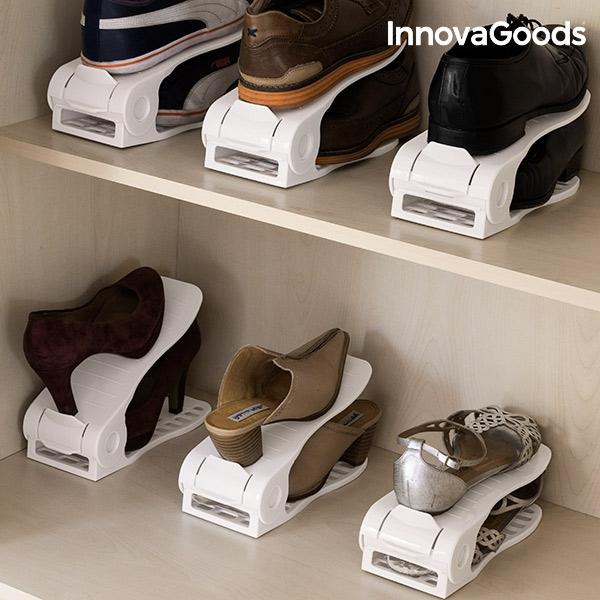 Organizador de zapatos regulable shoe rack innovagoods 6 pares2