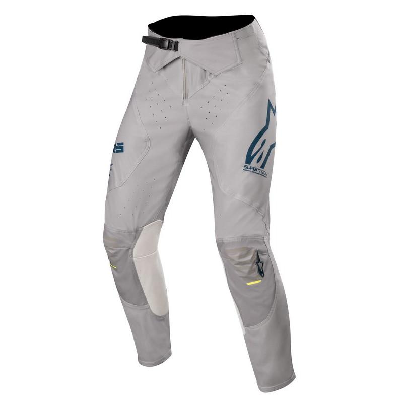 Pantalon alpinestars supertech grey navy yellow fluo al3720720 9705