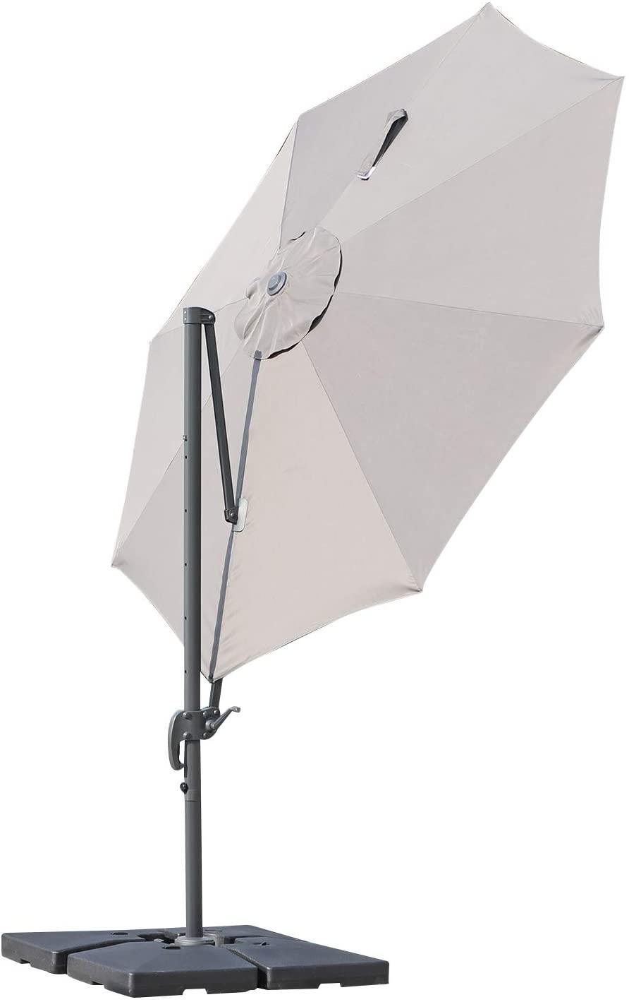Parasol outsunny gris