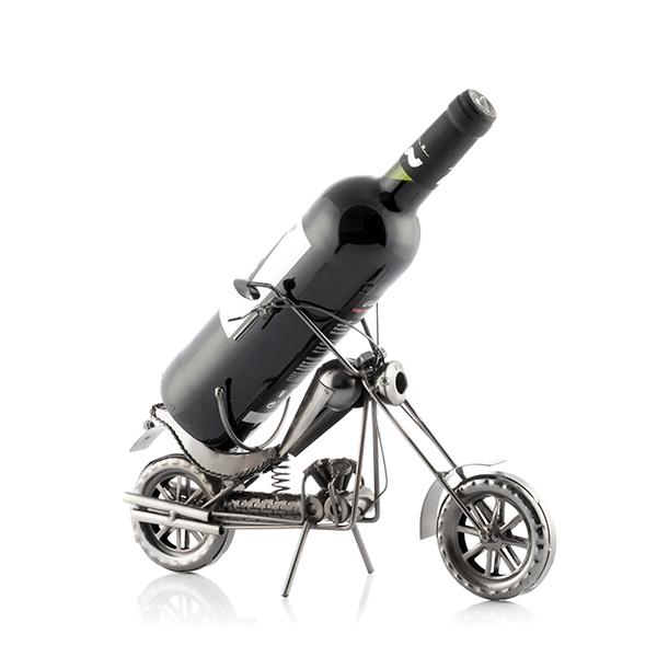 Porte bouteille en metal moto chopper2
