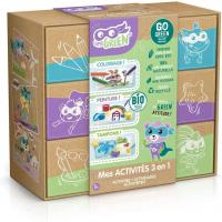 Super green kit 3 activites bio coloriage tampons peinture 1