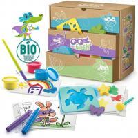Super green kit 3 activites bio coloriage tampons peinture