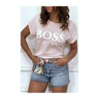 Tee shirt boss lady rose 1