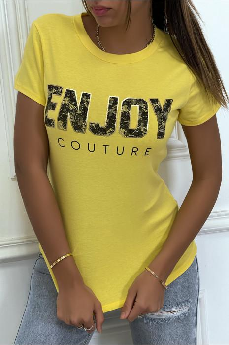 Tee shirt enjoy jaune 1