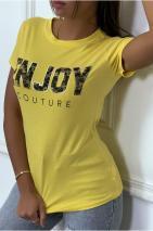 Tee shirt enjoy jaune
