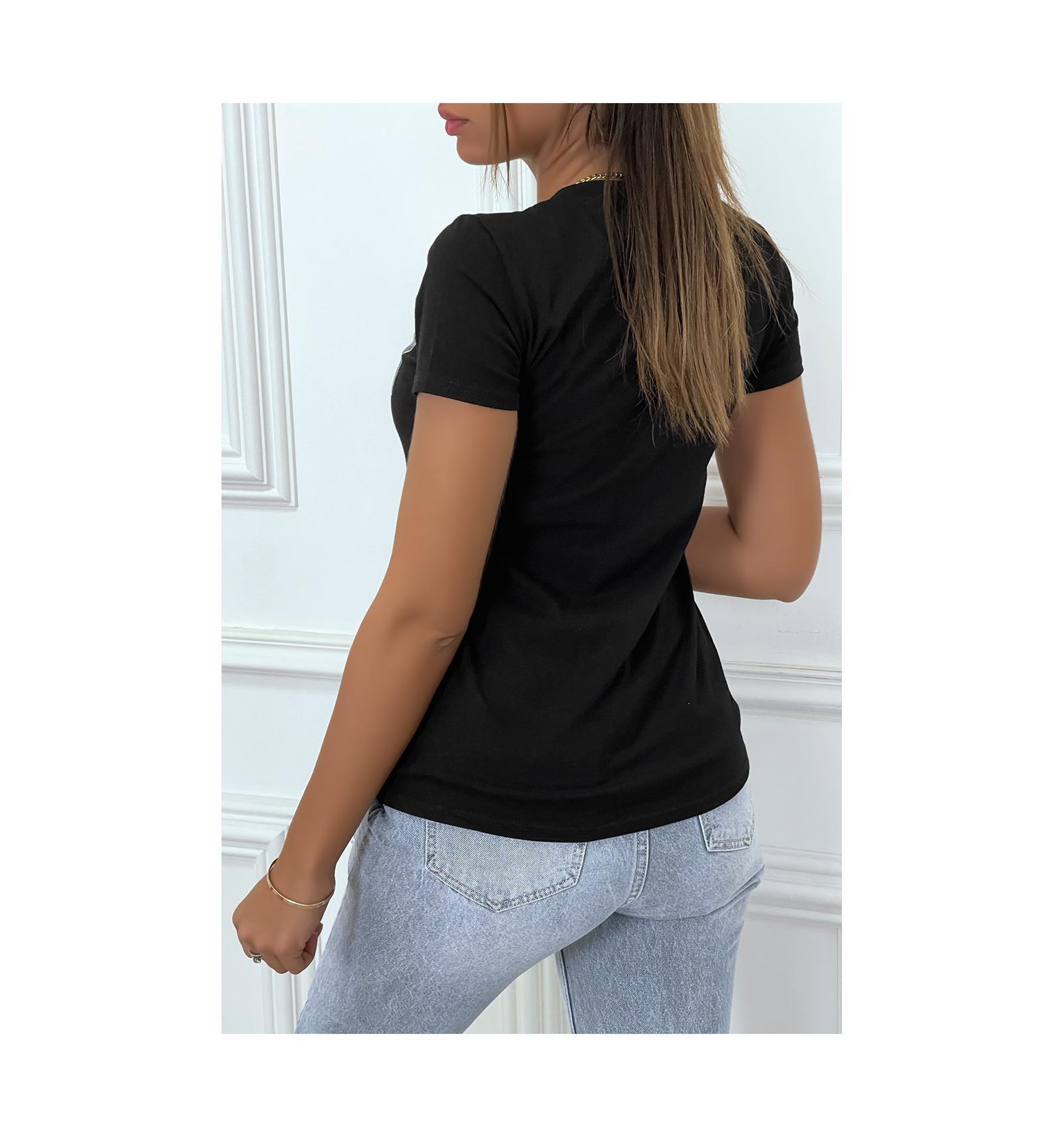 Tee shirt enjoy noir 1