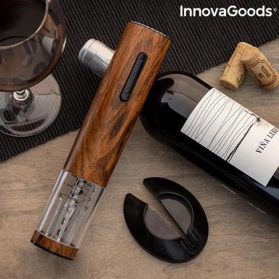 Tire bouchon automatique rechargeable effet bois corkout innovagoods 8