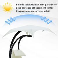 Transat suspendu avec pare soleil et matelas design 3