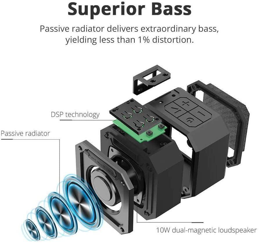 Tronsmart groove enceintes portable bluetooth 12w haut parleur bluetooth 5 0 1
